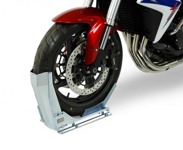 Držiak motocykla na príves skrutkovateľný (veľkosť kolesa 10-19 ̋ / šírka 90-130 mm)